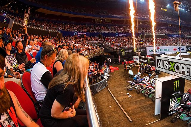 Get your front row seats NOW!  Tickets are selling fast. Ticketek link in bio. #MonsterEnergy #AUSXOPEN #Sydney #Supercross #ChadReed #JasonAnderson #JustinBarcia #JustinBrayton