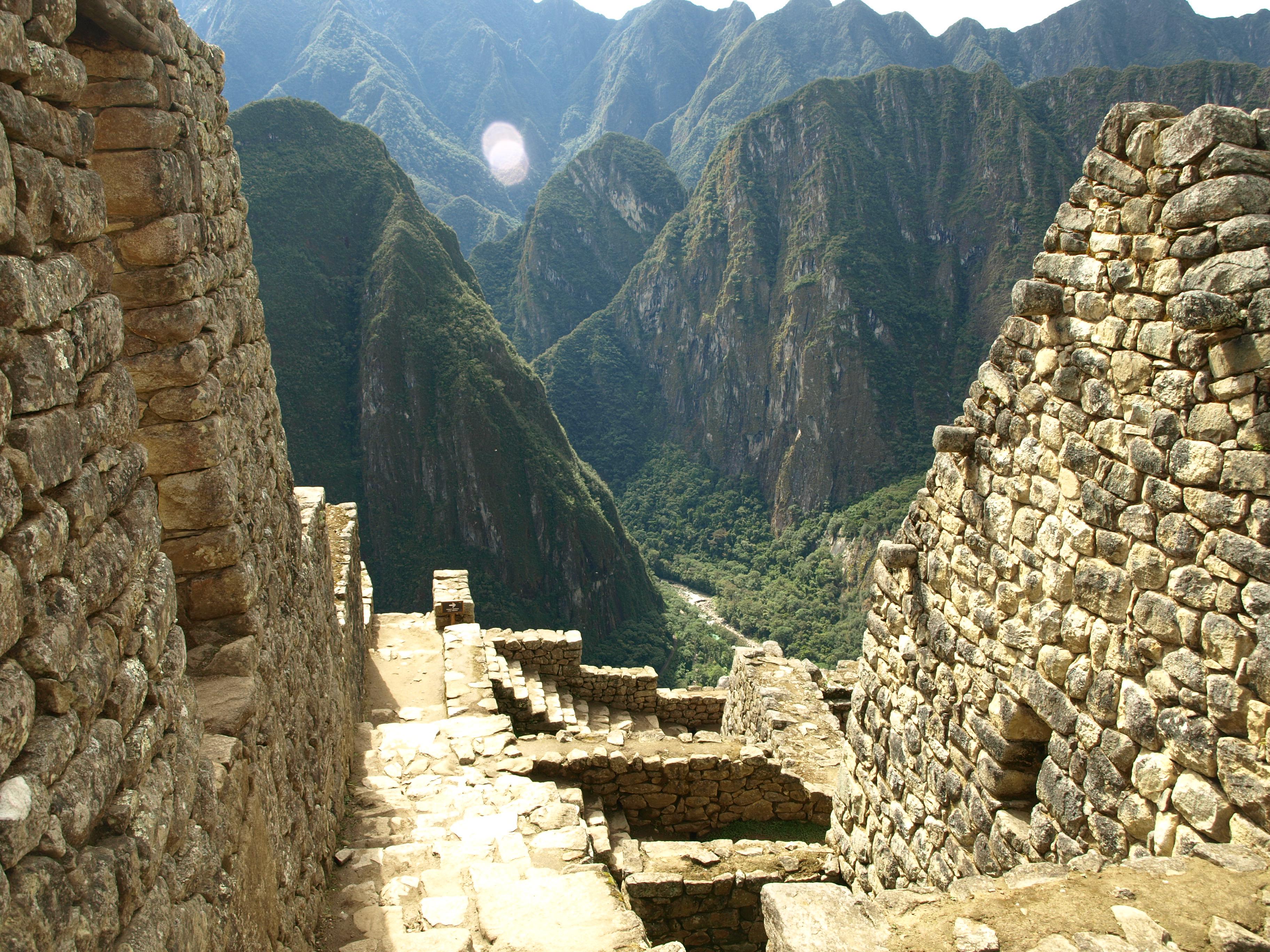Arrival to Machu Picchu