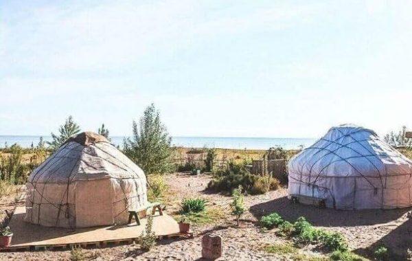 Overnight in yurt