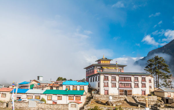 Seek enlightenment at Tengboche Monastery