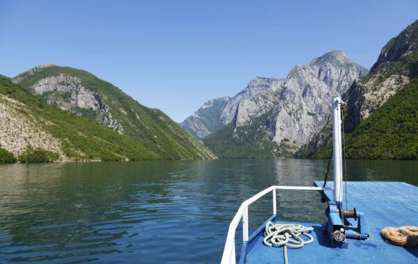 Take a ferry ride through the Accursed Mountains