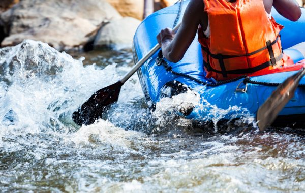 Go white-water rafting on the Tully River near Mission Beach