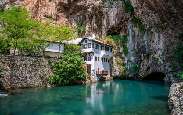 Explore the 600-year old Blagaj Tekija monastery