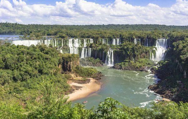 See the mighty Iguazu Falls