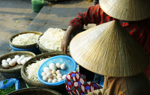 Sample authentic street food in Hanoi