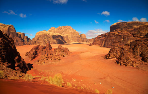 Fly through Wadi Rum on a pickup truck safari