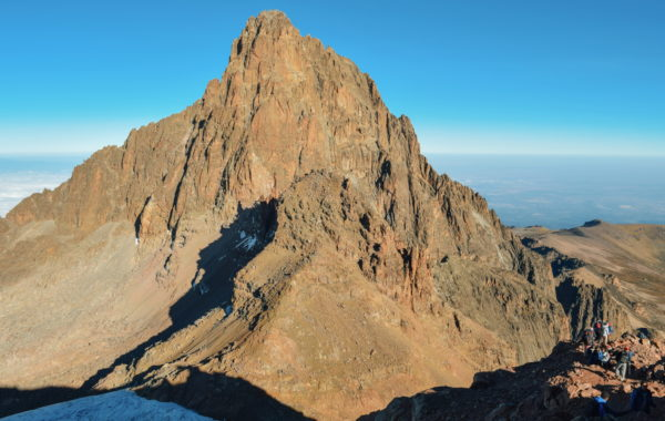 Take a helicopter over Mount Kenya