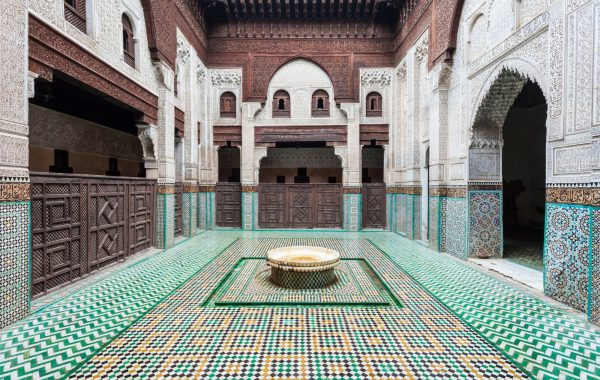 Soak up Moroccan architecture at a centuries-old Islamic school