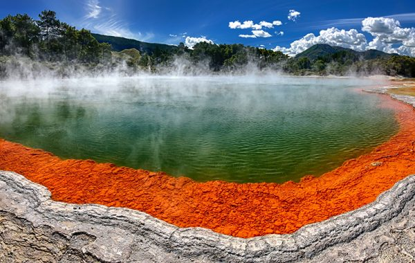 Dip your toes in the (very) hot springs of Rotorua