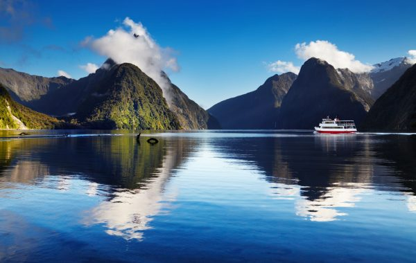 Marvel at waterfalls at Milford Sound