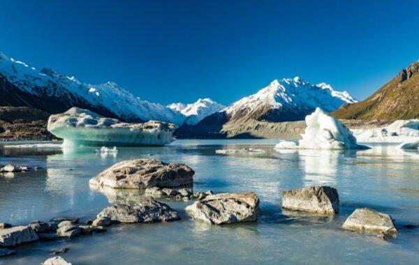 Take a helicopter ride to Tasman Glacier
