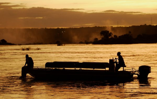 Take a sunset boat cruise on Victoria Falls