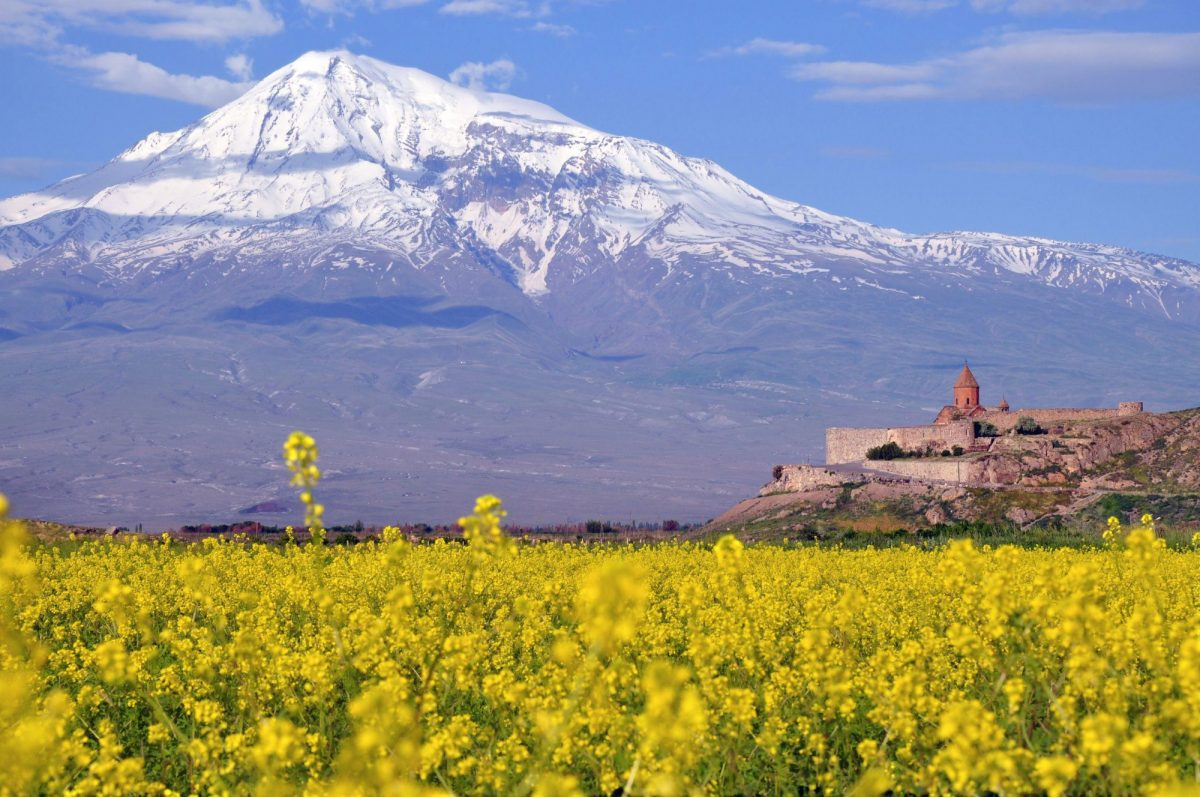 Armenia Ararat near the border with Turkey