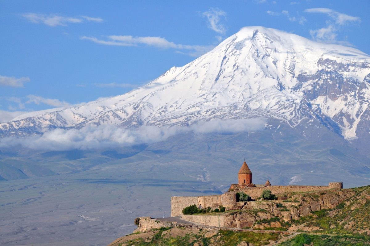 Armenia Ararat with khor Virap monastery