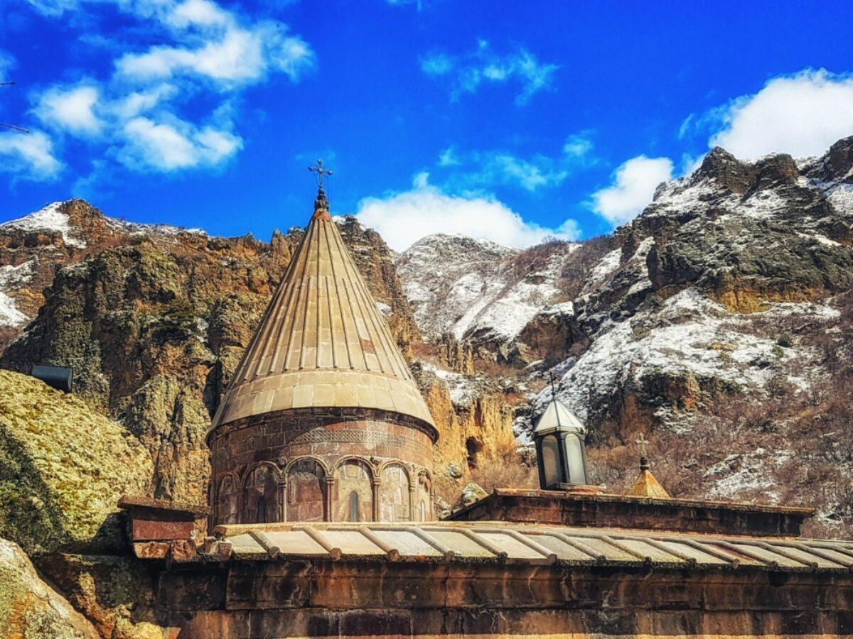 Armenia Geghard cave monastery in the Kotayk province