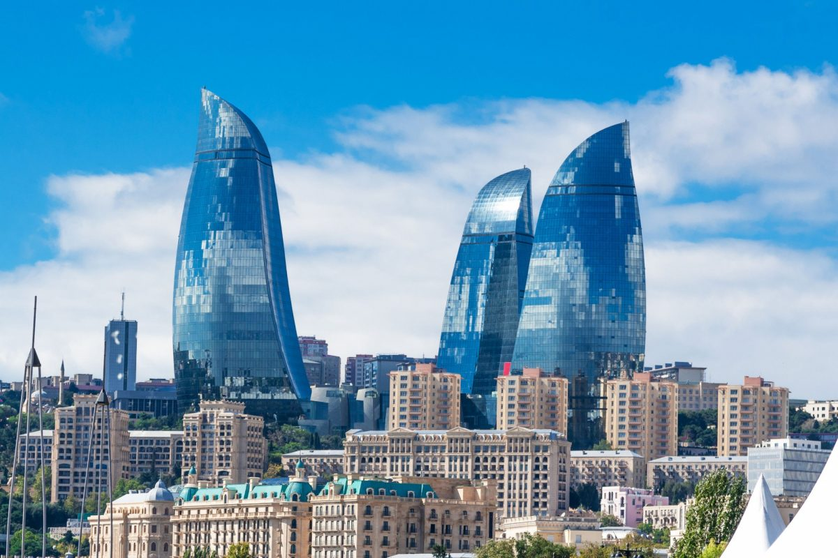 Azerbaijan Baku flametowers