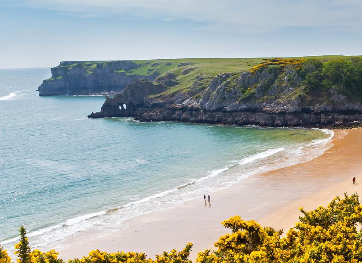 Barafundle Bay on the Pembrokeshire coast of South Wales
