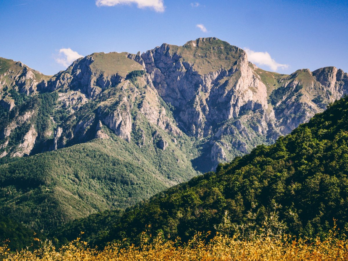 Bosnia Sutjeska National Park mountain peaks