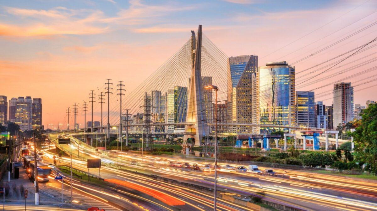 Brazil Sao Paulo Octavio Frias de Oliveira Bridge