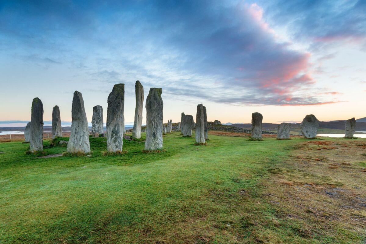 Calanais standing stones Isle of Lewis Scotland
