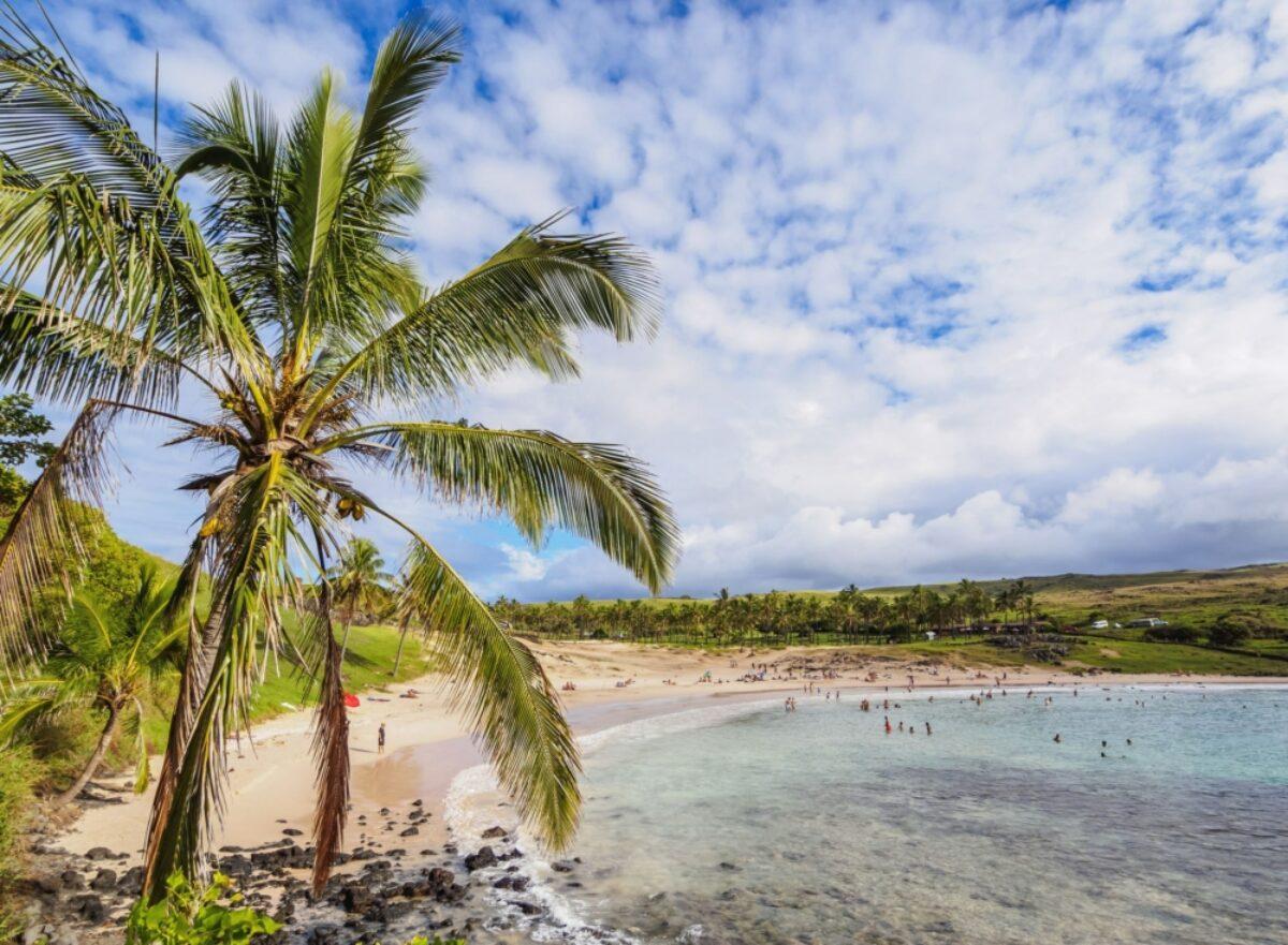 Chile Easter Island Anakena
