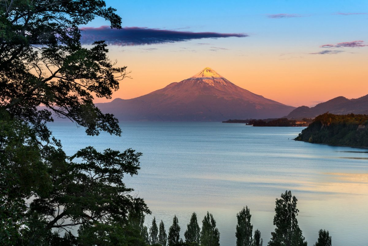 Chile Lake District Osorno Volcano and Lake L Lanquihue