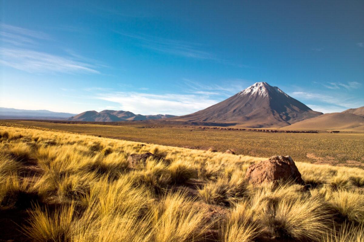 Chile atacama Licancabur volcano