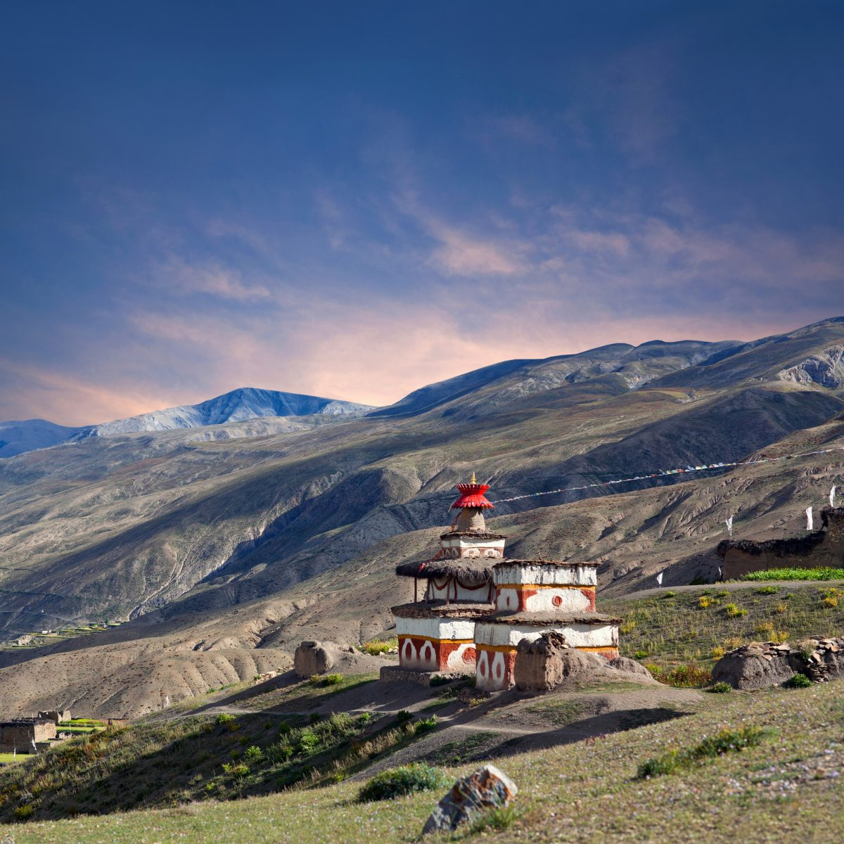 Dolpo-Ancient-Bon-stupa-in-Saldang-village-Nepal