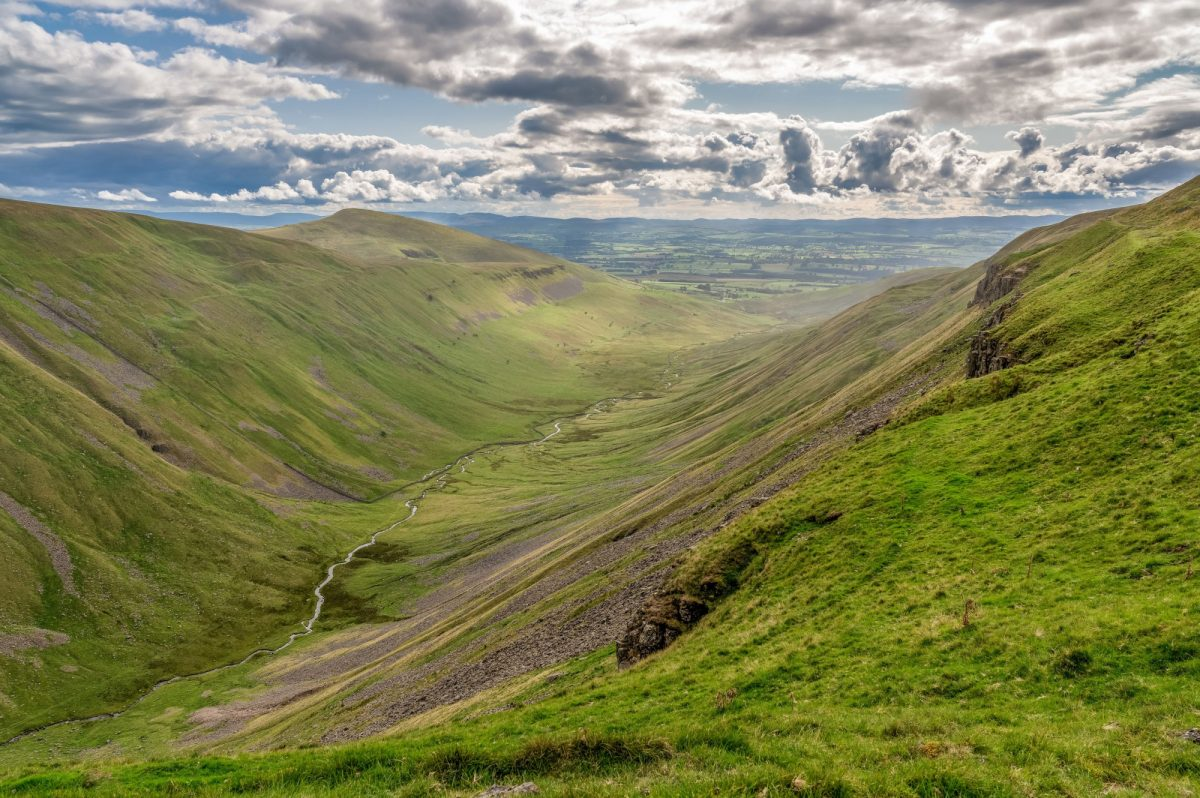 England Cumbria Way North Pennine landscape at the High Cup Nick