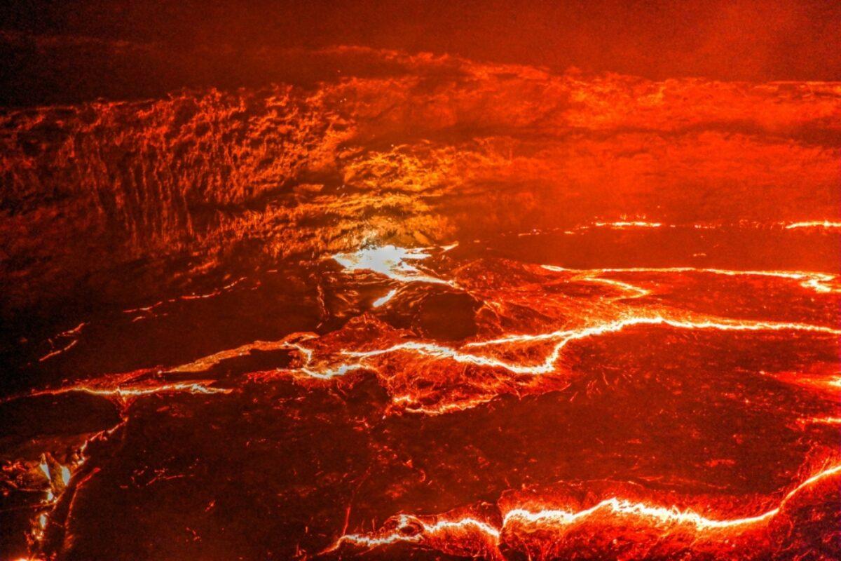 Ethiopia Erta Ale volcano crater melting lava Danakil depression