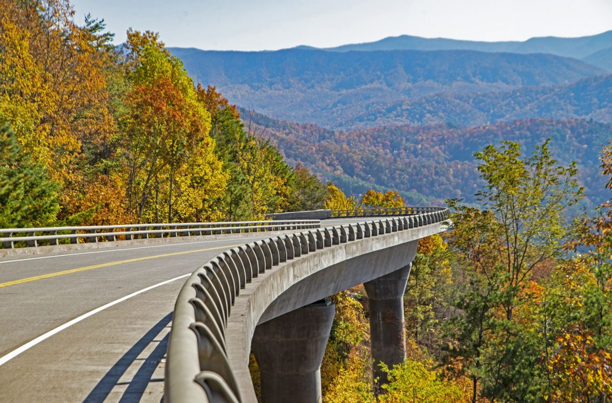 Foothills Parkway northern Great Smoky Mountains tennessee usa