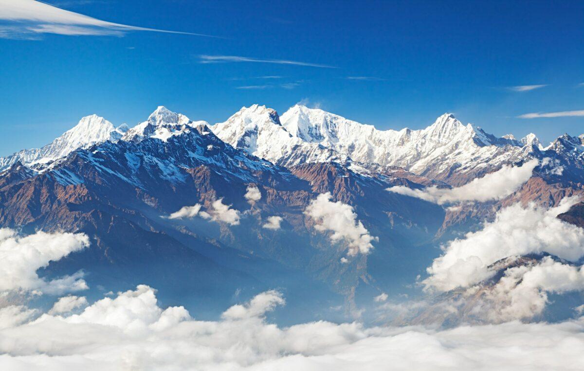 Ganesh Himal and Manaslu Himal mountain range Himalayas Langtang Nepal