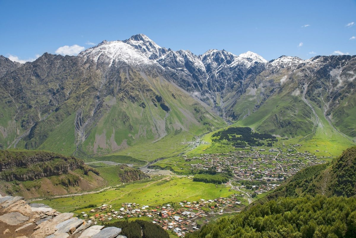 Georgia Caucasus Mountains Kazbegi region