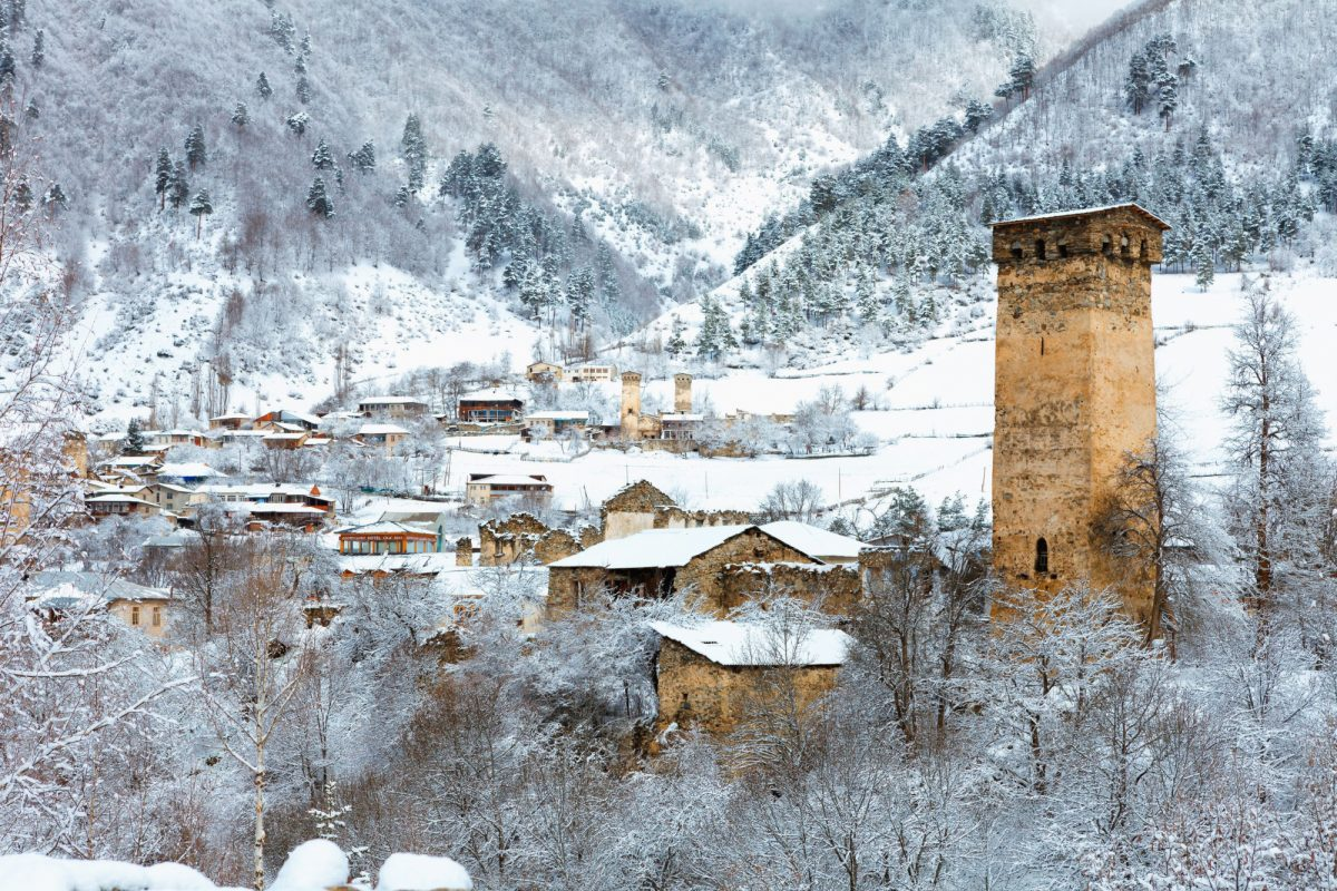 Georgia Svaneti Mestia snow
