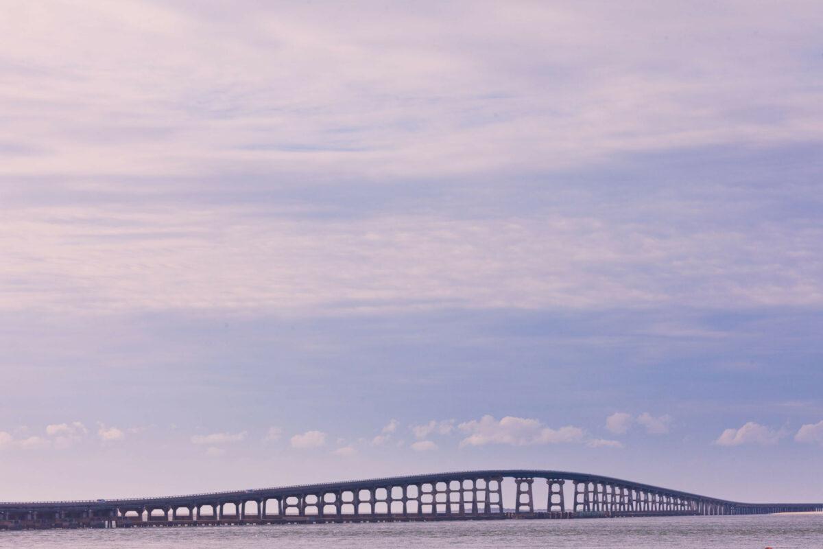 Herbert C Bonner Bridge between Bodie Island and Pea Island Outer Banks North Carolina NC USA