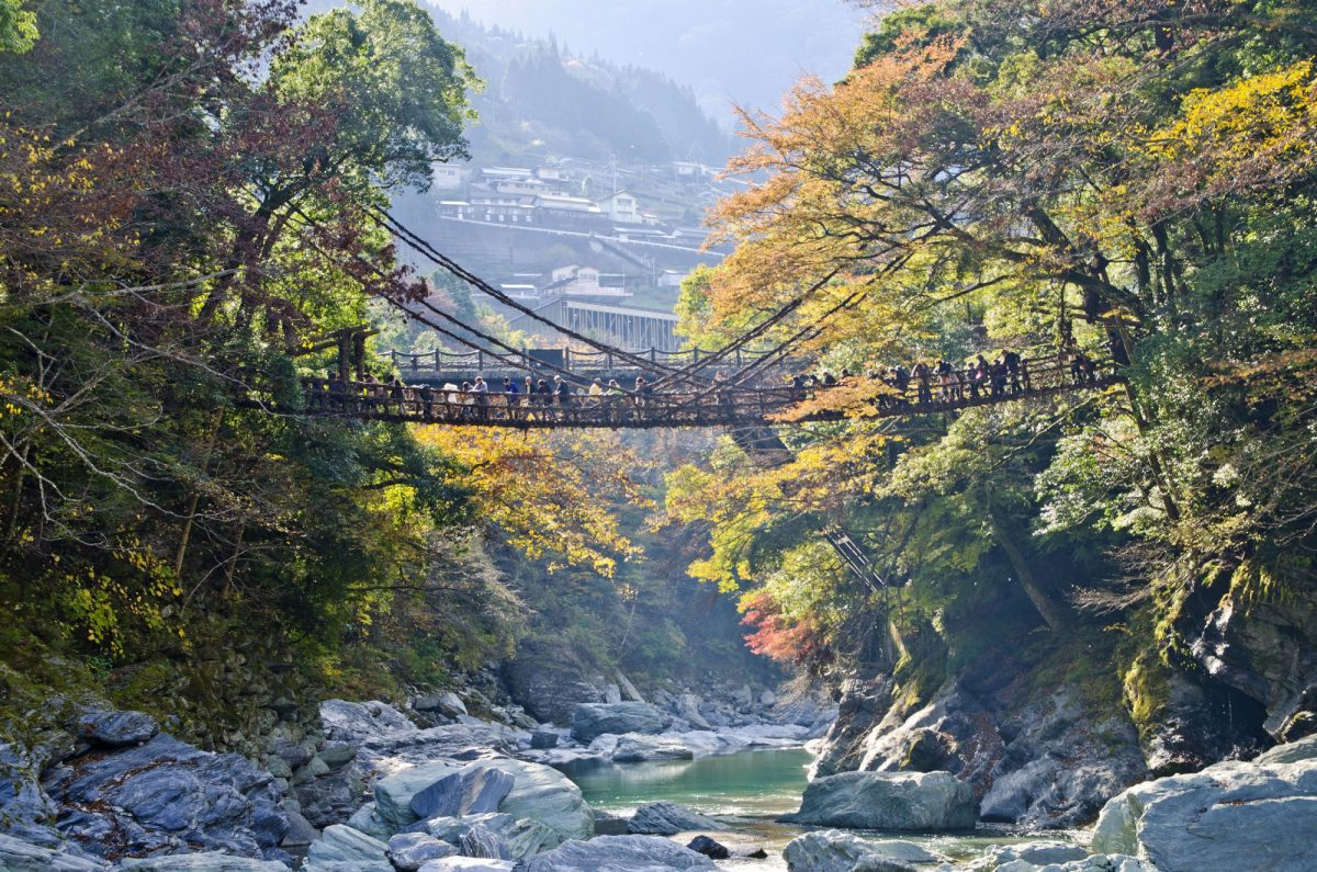 Japan Iya valley Kazurabashi bridge
