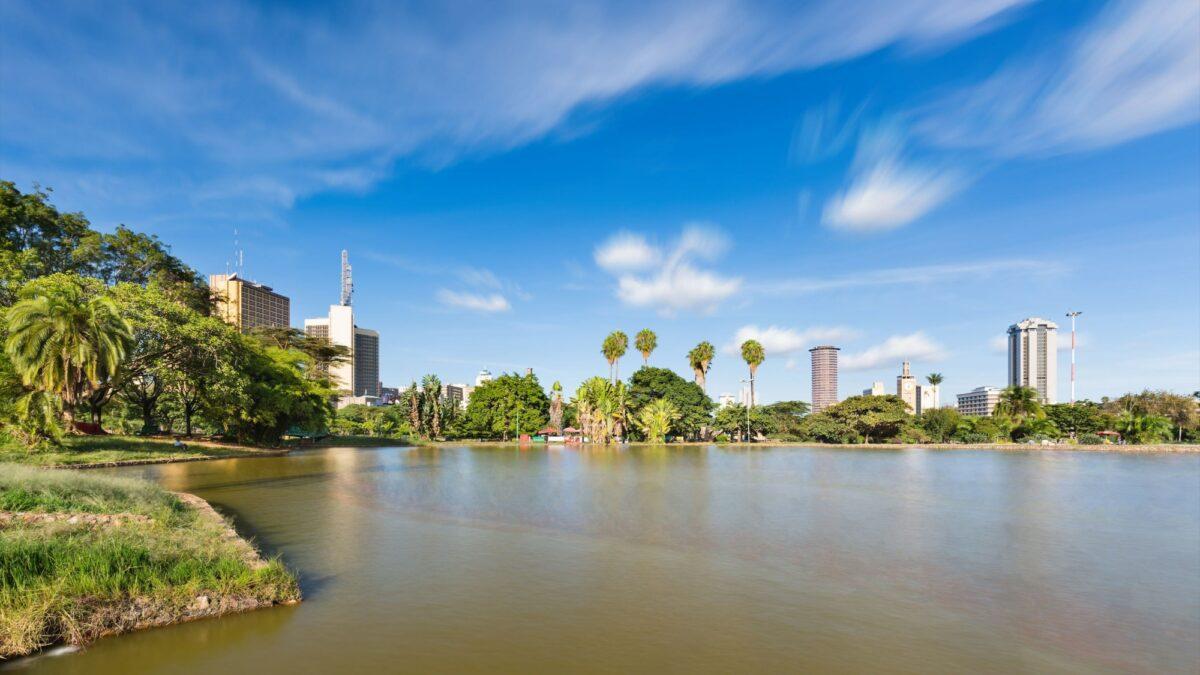 Kenya Nairobi lake in Uhuru Park