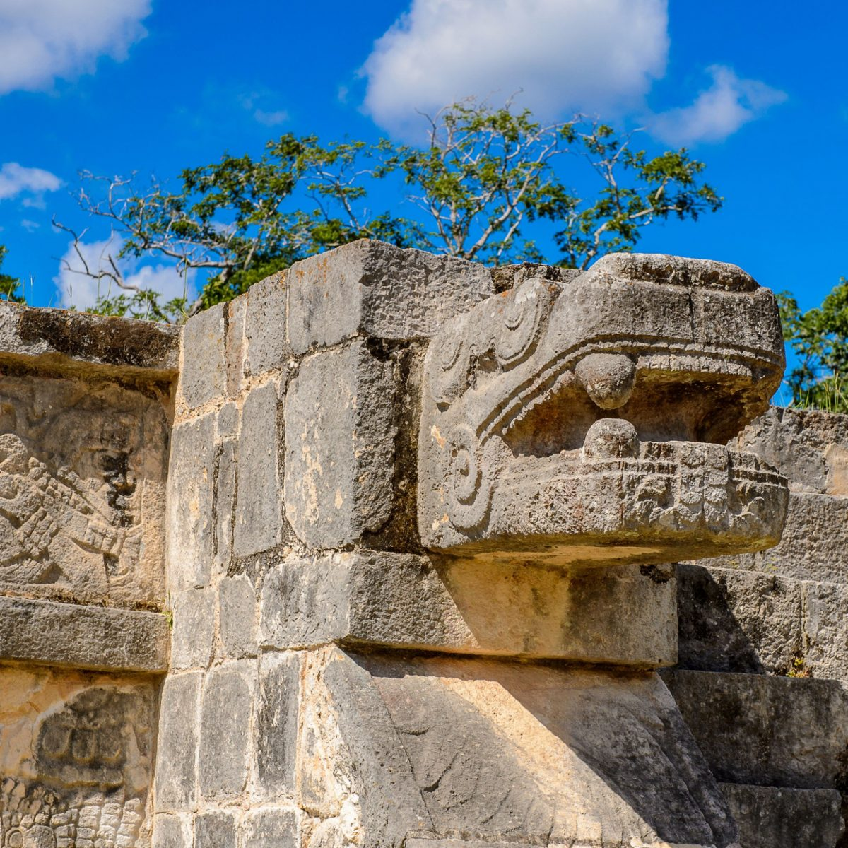 Mexico Chichen Itza Plumed Serpent Venus Platform