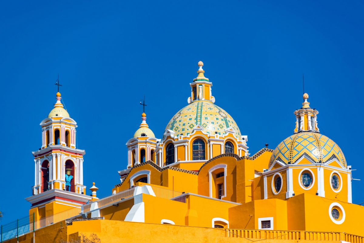 Mexico Cholula Beautiful church known as Our Lady of Remedies