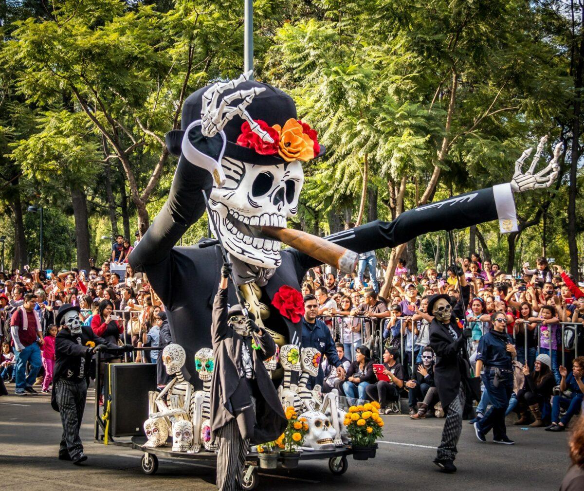 Mexico Mexico city ay of the Dead Dia de los Muertos parade