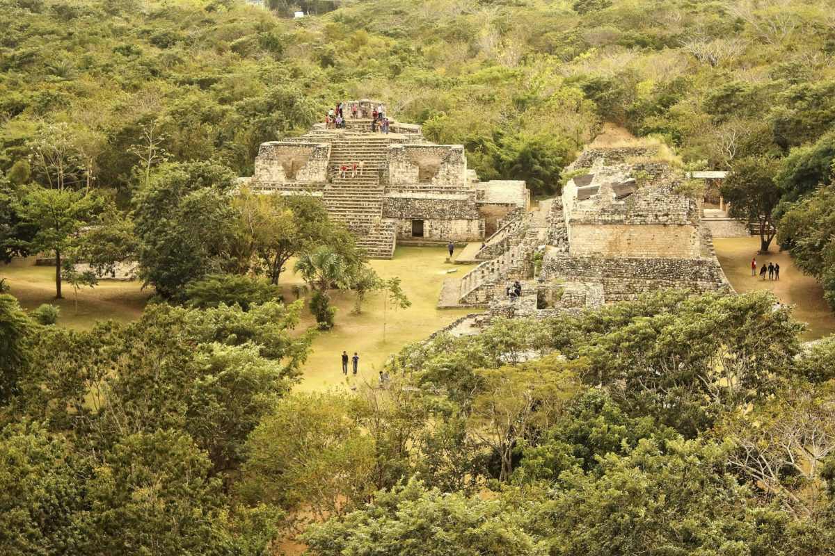 Mexico Yucatan archaeological zone of Ek Balam