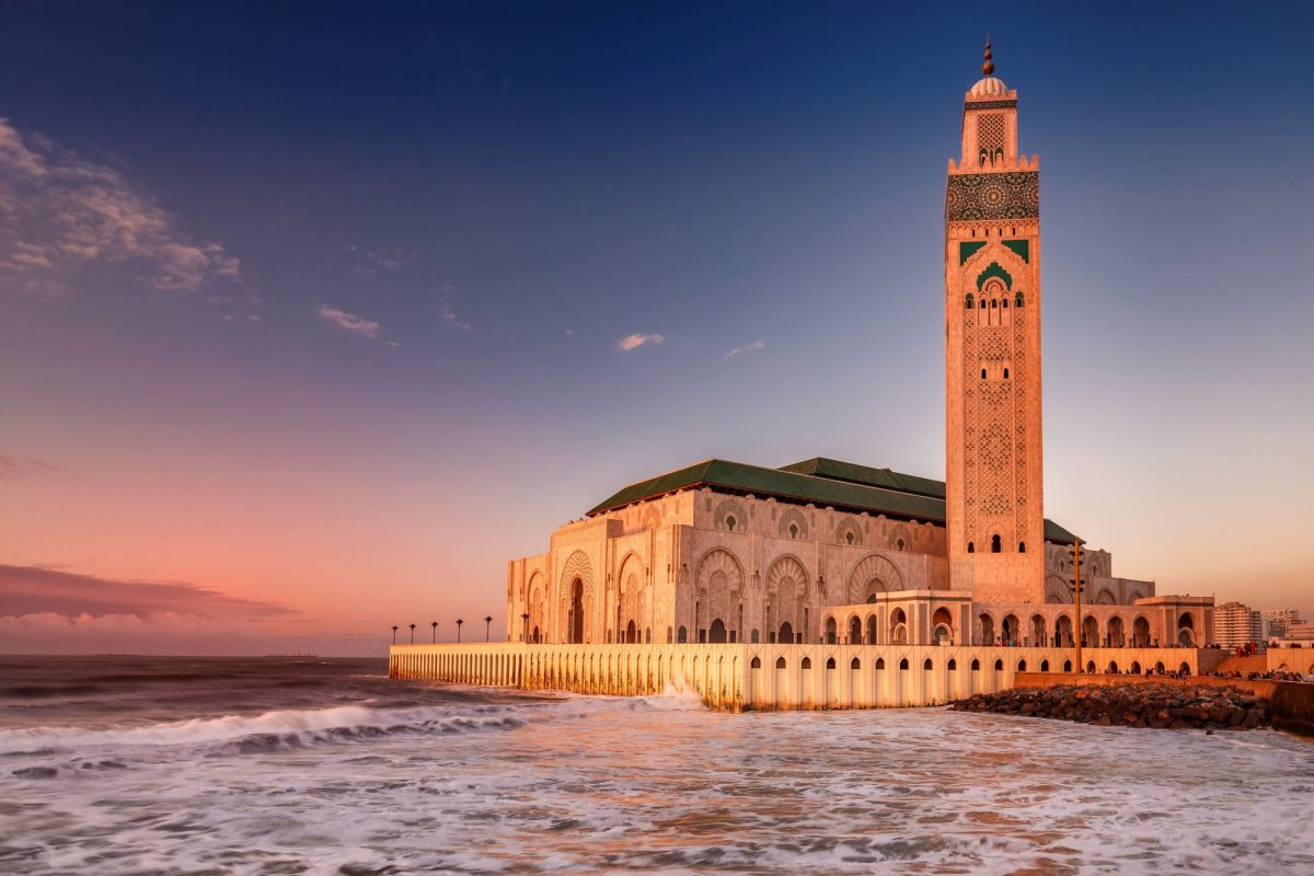 Morocco Casablanca The Hassan II Mosque largest mosque in Morocco