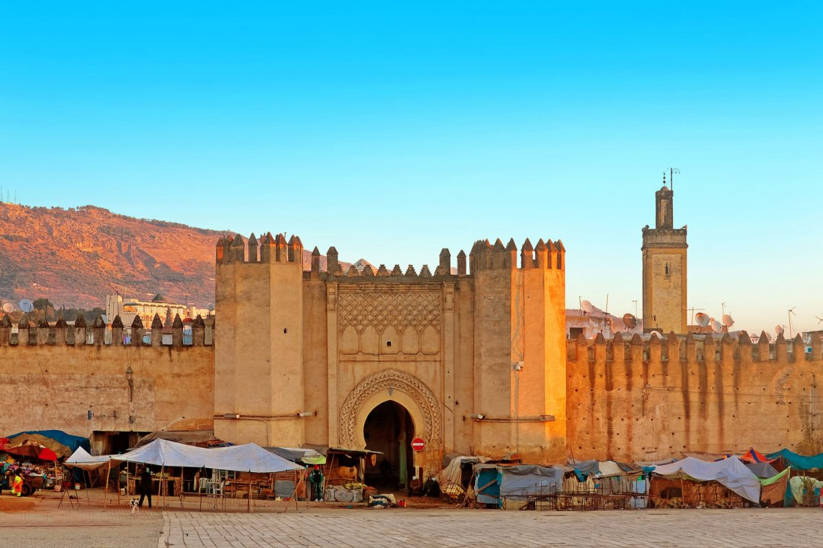 Morocco Fez Gate to ancient medina
