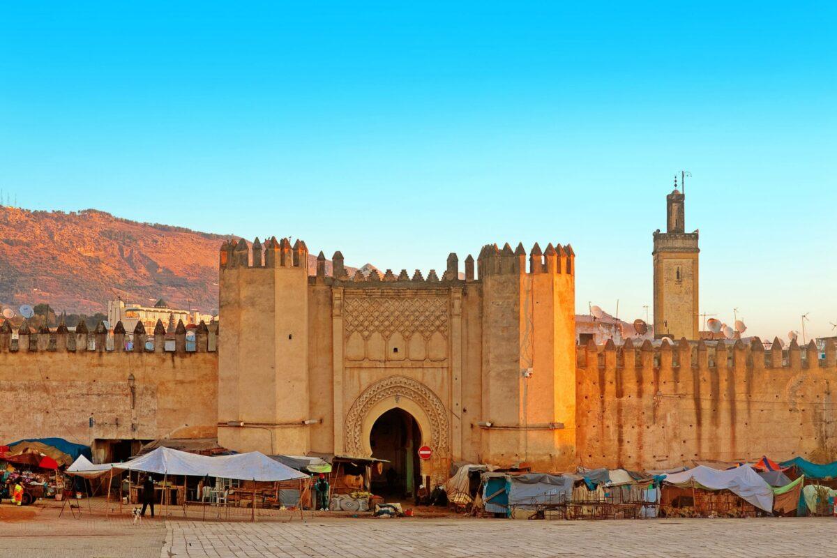 Morocco Fez Gate to ancient medina