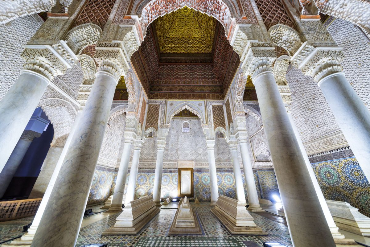 Morocco Marrakech Saadian tombs