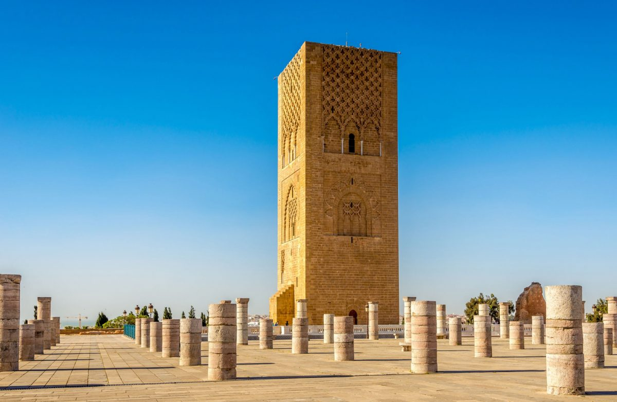 Morocco Rabat Hassan Tower near Mausoleum Mohammed V