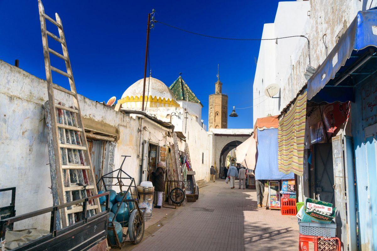 Morocco Rabat On the street of old town Medina