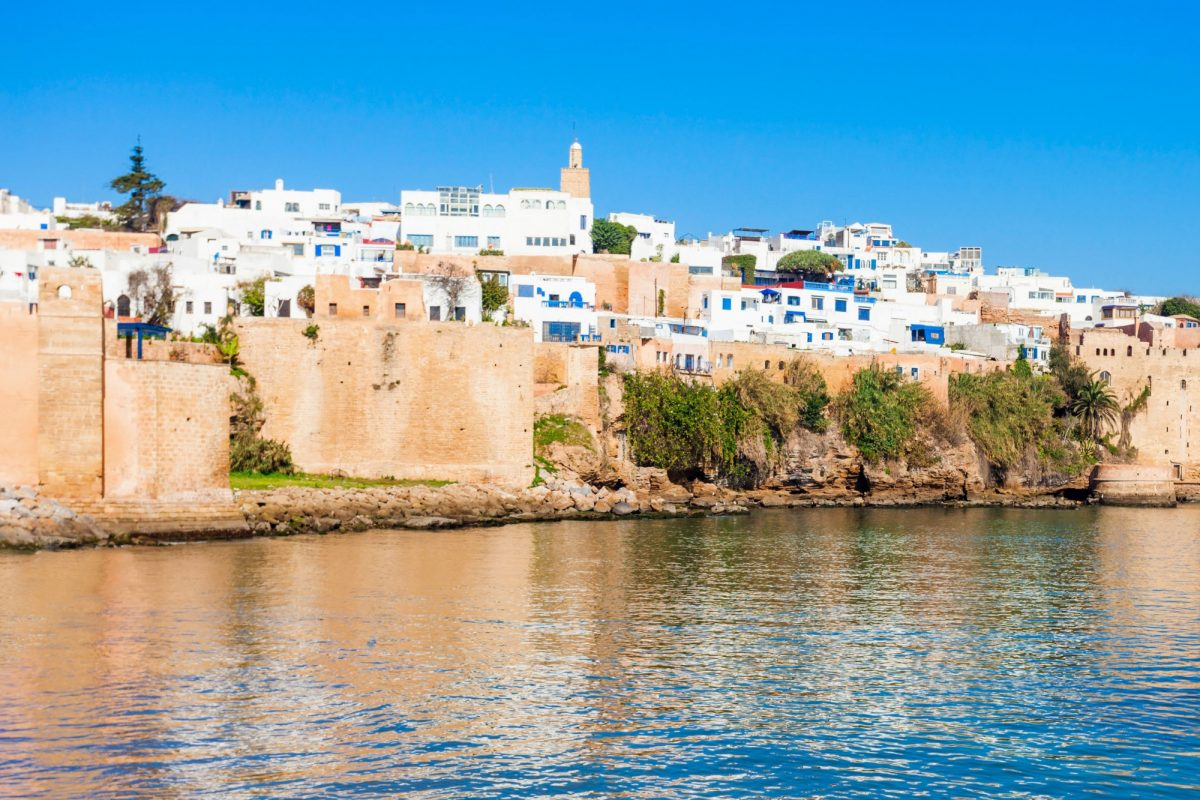 Morocco Rabat The Kasbah of the Udayas Fortress is located at the mouth of the Bou Regreg river