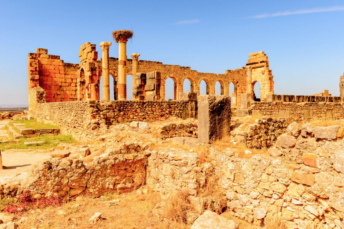 Morocco Volubilis an excavated Berber and Roman city