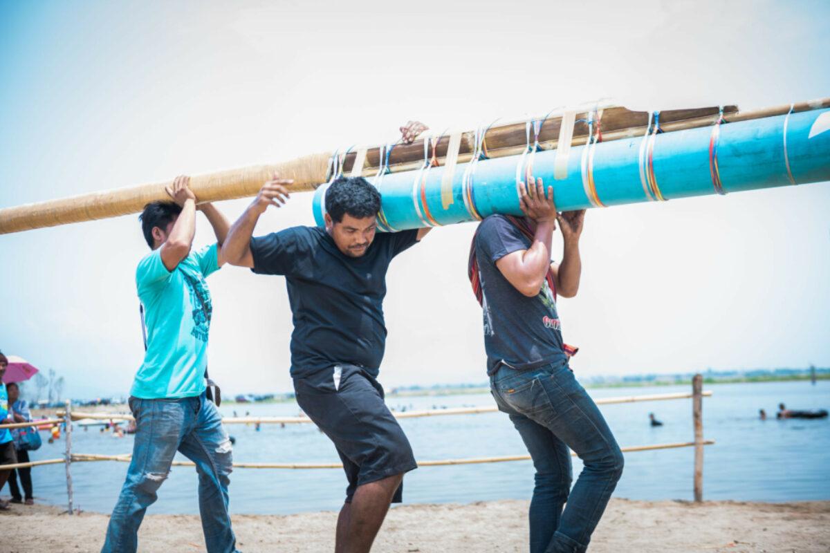 Nakhonsawan Thailand traditional rockets in Rocket festival Boon Bang Fai